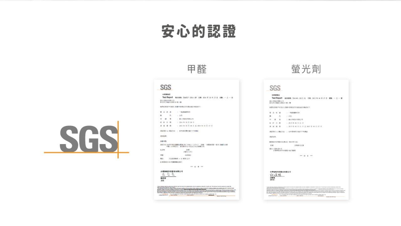 SGS認證報告