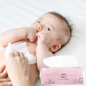 100 pes baby cotton wipes